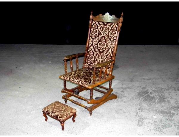 Американское кресло-качалка с пуфом, AM1221