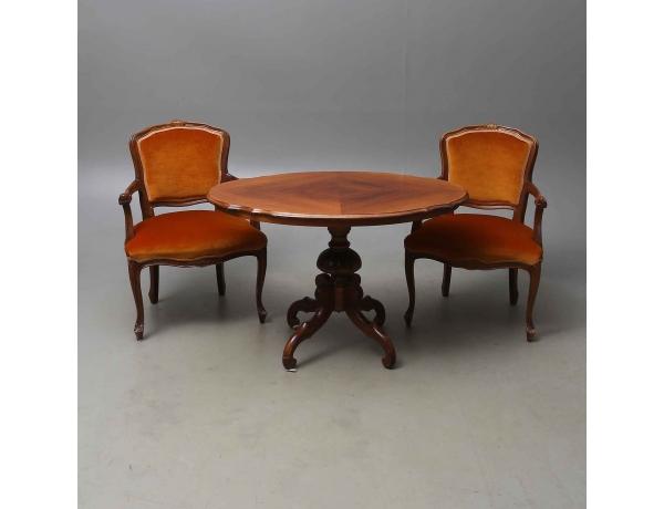 Журнальный стол и два кресла, AM0429