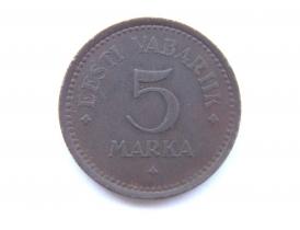 5 марок Эстонской республики 1922 года