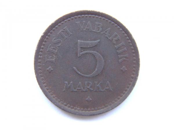 5 марок Эстонской республики 1922 года, AM1306