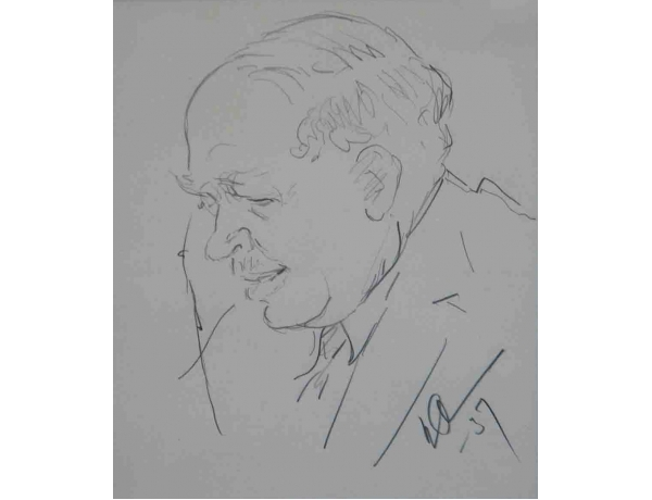 Рисунок карандашом Портрет, AM1141
