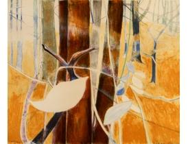 Рисунок Абстрактный лес 72x61