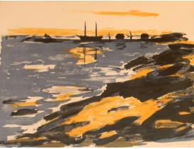 Joonistus Abstraktne sadam 72x60