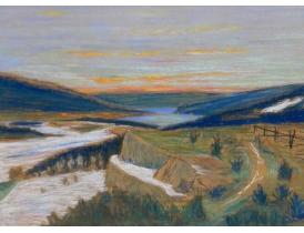 Рисунок Берег реки