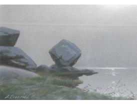 Joonistus Kivid järve kaldal