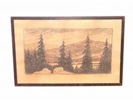 Рисунок Лес зимой