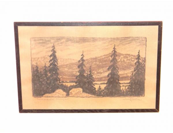 Рисунок Лес зимой, AM0472