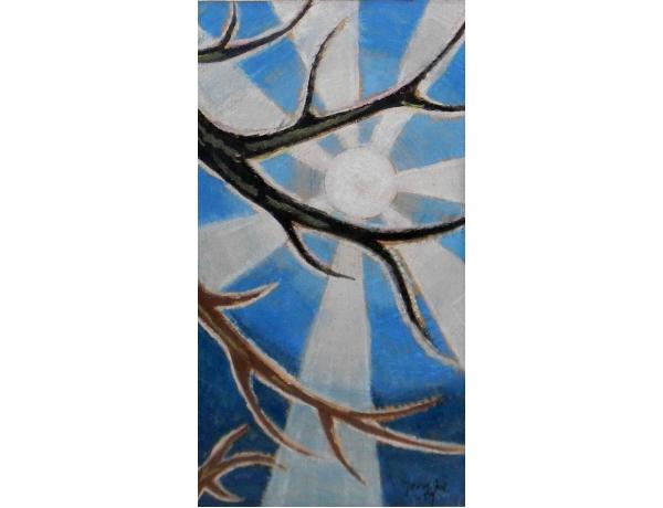 Рисунок Солнце в кроне дерева, AM0696