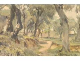 Рисунок Дорога в лесу 1934