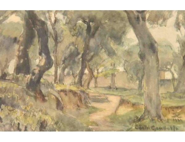 Рисунок Дорога в лесу 1934, AM1153