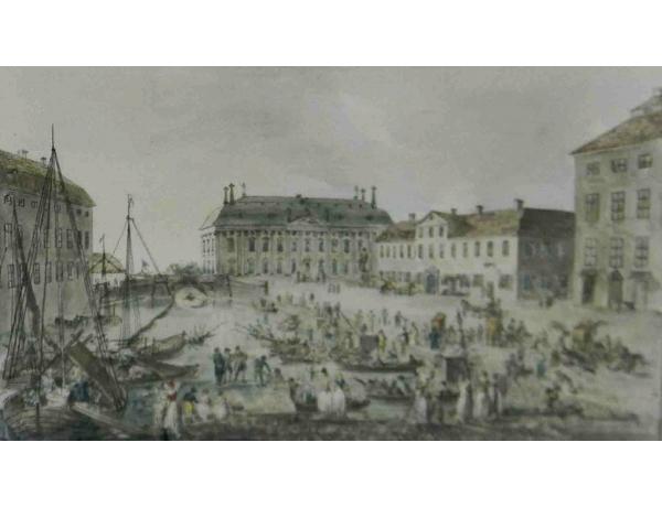 Рисунок Старинный порт, AM1140