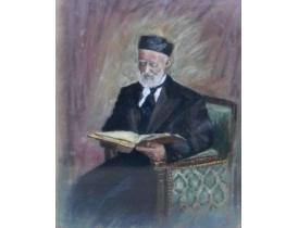 Рисунок Дедушка с книгой