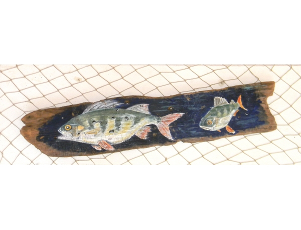 Настенная картина ручной работы Окунь, AM1355