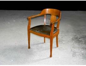 Письменный стул с кожаной обивкой