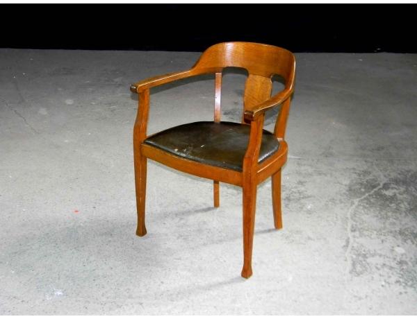 Письменный стул с кожаной обивкой, AM0819