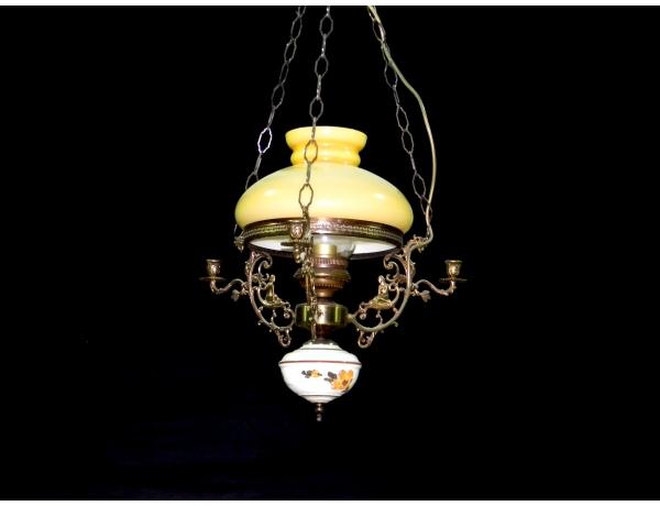 Kollase klaaskupliga laevalgusti, AM1268