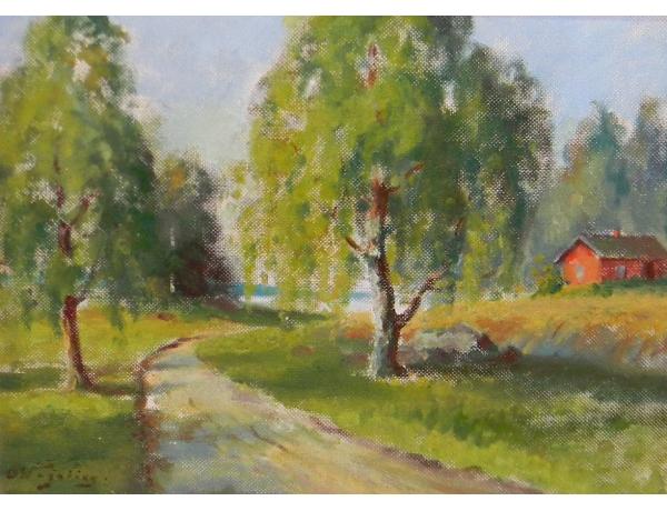 Kuldses raamis õlimaal Talu suvel, AM1271
