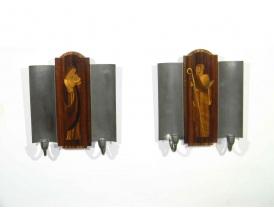 Küünlajalad seinale intarsiaga