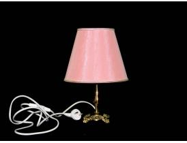 Настольная лампа с розовым абажуром