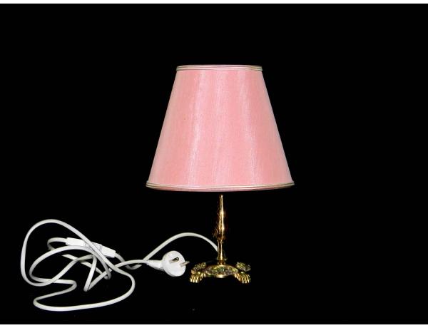 Настольная лампа с розовым абажуром, AM0506