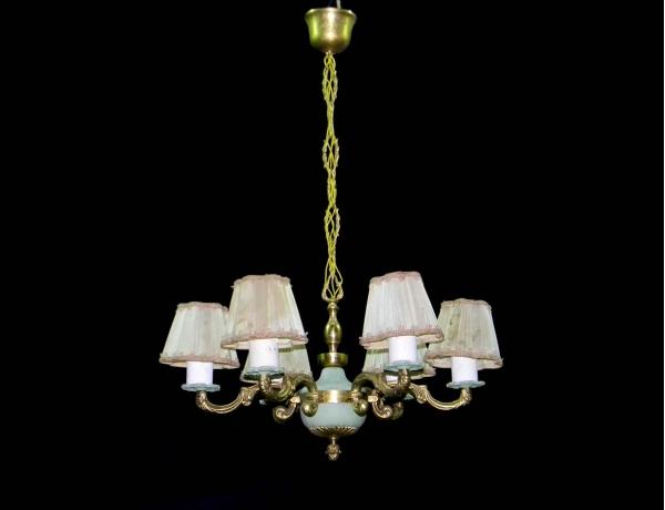 Люстра металлическая с шестью свечами, AM0838