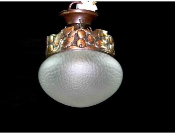 Люстра из меди со стеклянным куполом, AM0944