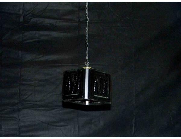 Стеклянная люстра чёрного цвета, AM1214