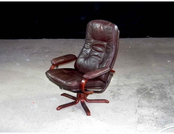 Кожаное кресло конторское, AM0629