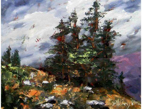 Картина маслом Абстрактный пейзаж, AM1197
