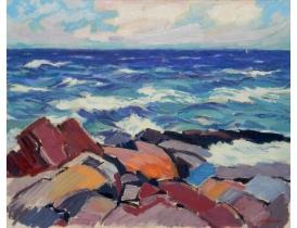 Õlimaal Abstraktne meri