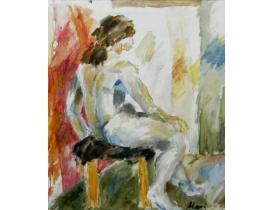 Õlimaal Abstraktne naisterahvas