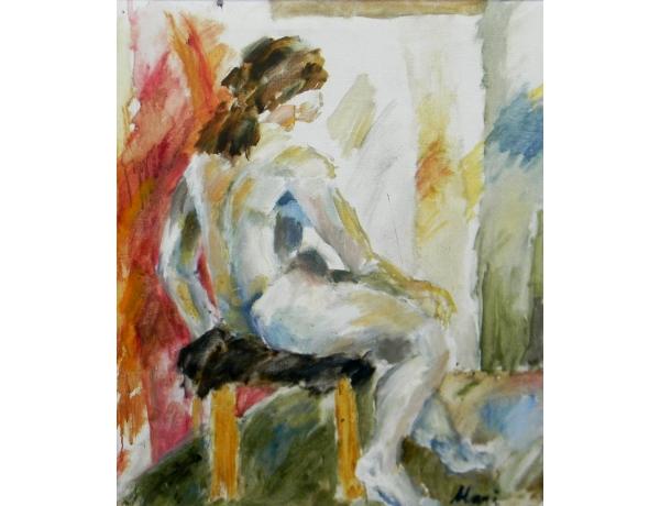 Картина маслом Абстрактная девушка, AM1322