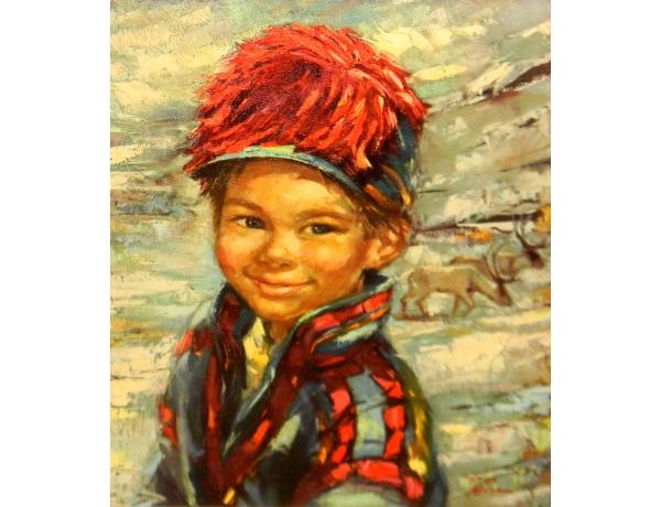 Печать маслом Абстрактный мальчик, AM1243