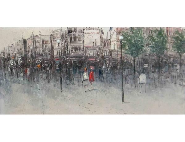 Õlimaal Abstraktne tänav S. Sinde 1963, AM1198