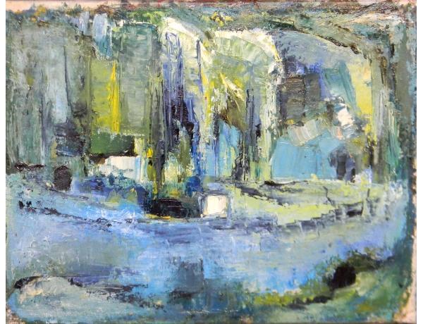 Картина маслом Абстрактные цвета, AM1324