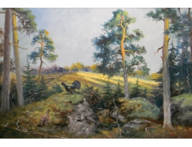 Картина маслом Фазан в лесу