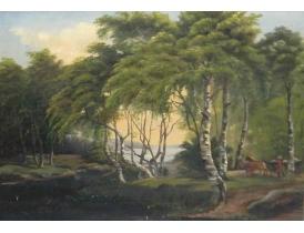 Картина Повозка в лесу