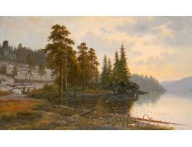 Õlimaal Hommikune kalapüük J.L K. 1901