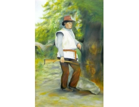 Картина Охотник с ружьём