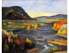 Картина Река между гор