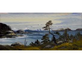 Картина Чайки на берегу моря