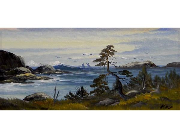 Картина Чайки на берегу моря, AM0710