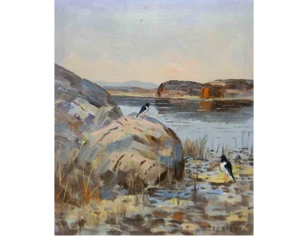 Õlimaal Kaks harakat tiigi kaldal Eric Lauritzen, AM1164