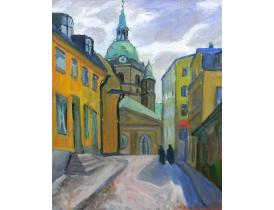 Картина маслом Церковь Inkeri Koivisto 1946