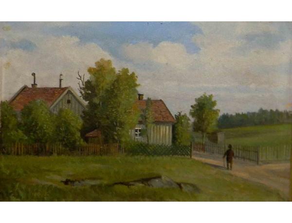 Картина маслом Домой, AM1185