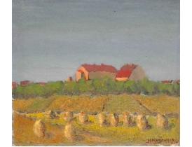 Õlimaal Kollane põld talu kõrval