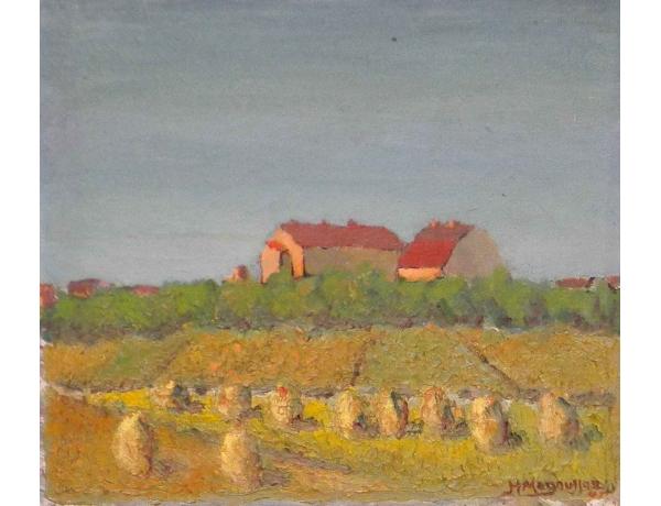 Картина Жёлтое поле возле хутора, AM0681