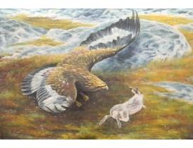 Картина маслом Орёл и заяц