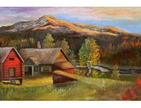 Картина Кривая берёза возле хутора