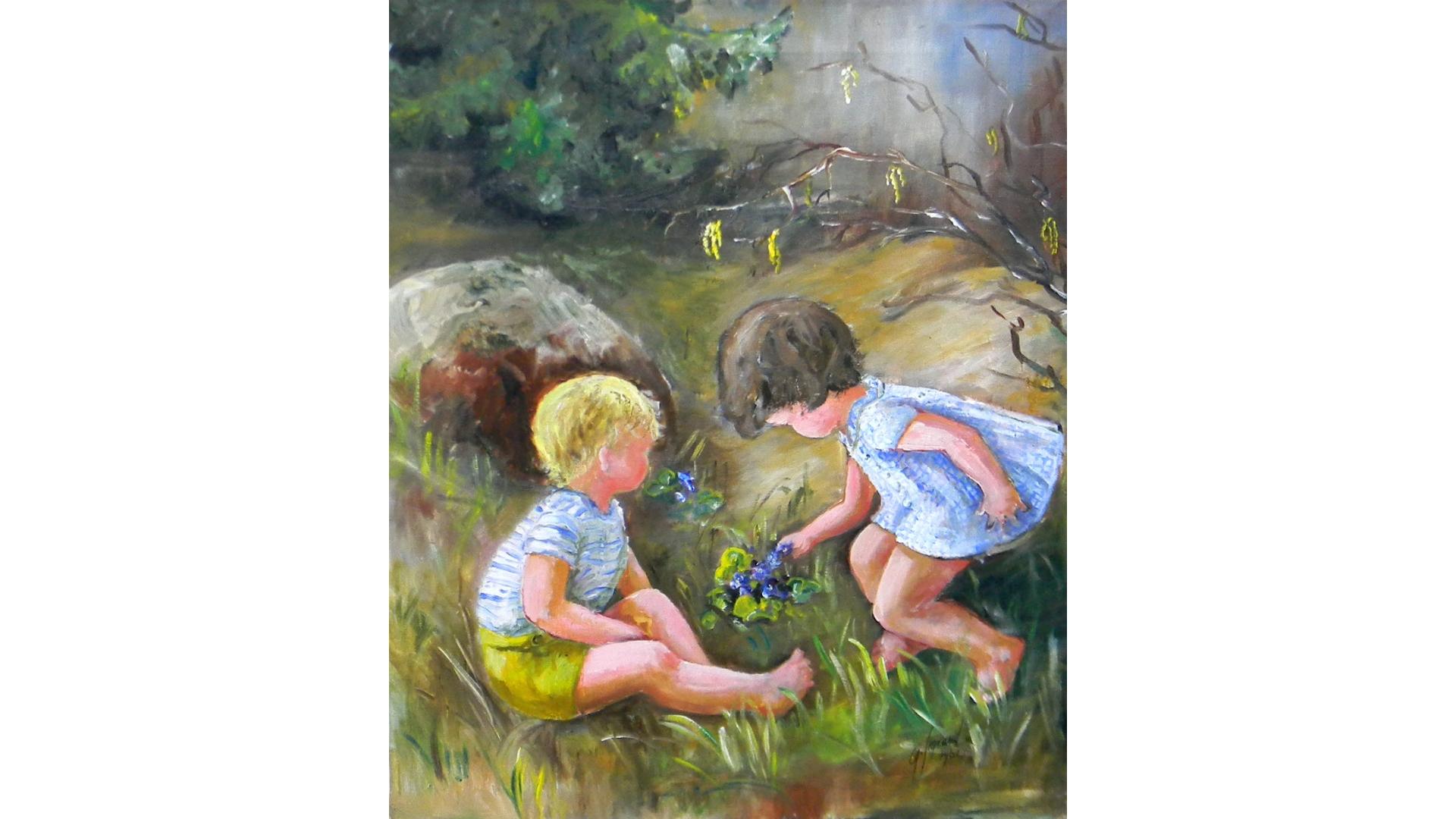 Õlimaal Lapsed metsas G  Sigraud 1961, AM1390
